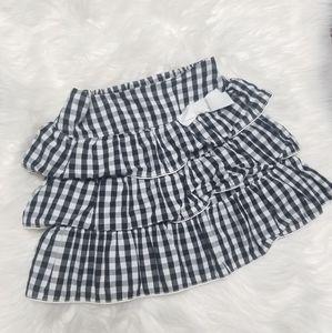Children's Place | Black & White Checkered Skirt